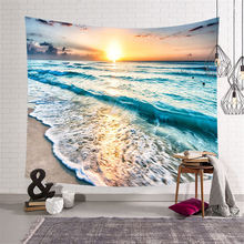 Nodic Wave Mural Large Tapestry Hippie Wall Hanging Art Carpet India Mandala Beach Towel for Living Room Bedroom Home Decor