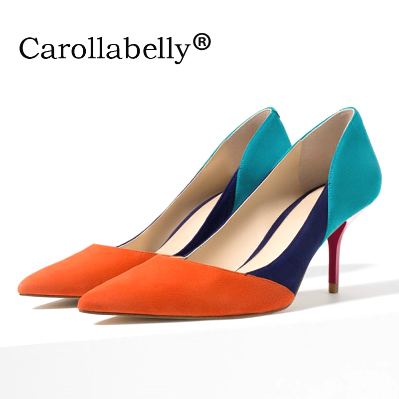2019 new temperament Thin high-heeled women shoe Mixed colors sexy women pump Pointed toe shallow mouth women high heels2019 new temperament Thin high-heeled women shoe Mixed colors sexy women pump Pointed toe shallow mouth women high heels