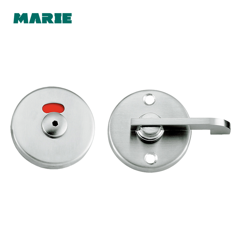304 Stainless Steel Door Lock Instructions Public Restroom Toilet Partition Door Lock Vacant Engaged Indicator Bathroom black public toilet accessories one set for wc partition