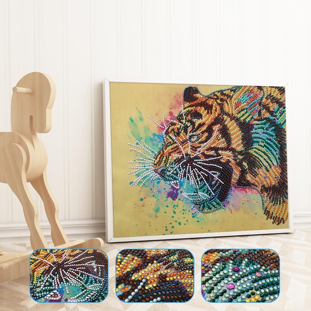 Full drill DIY 5D Diamond Painting Cartoon Tiger Girl Fashion Home Decor H691