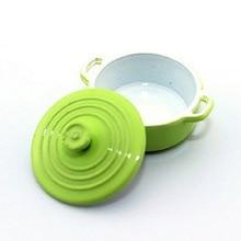 1:12 Dollhouse Miniature Kitchen Utensil Cookware Metal Casserole Dish Stew Pan Stockpot Doll Accessories