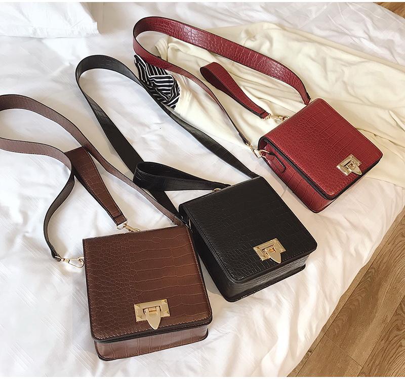 DIINOVIVO Fashion Alligator Female Handbags Designer Crossbody Bags for Women Small Square Bag Shoulder Messenger Purse WHDV0917 11