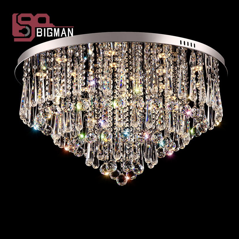 luxury crystal LED chandelier modern crystal chandelier lighting fixtures plafon de cristal living room lights