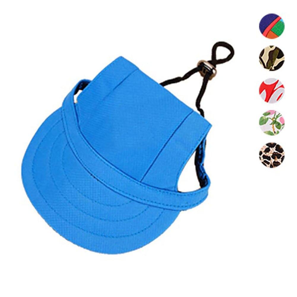 Sombrero Con Agujeros de Oído de Lona de moda Para Mascotas Perro Protector Sola