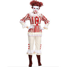 Adult Women Funny Harley Quinn Cosplay Womens Fancy Party Dress Clown Circus Joker Clothing Halloween Costumes Z4203