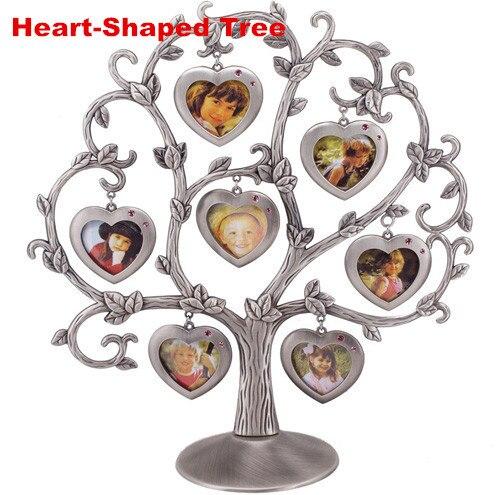 7 pcs European style Family Tree Zinc alloy Metal Photo Frames Heart ...