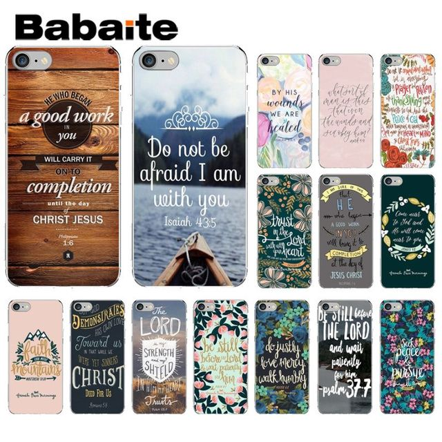 Babaite Bible verse Philippians Jesus Christ Christian Soft Phone Case for iPhone 8 7 6 6S Plus X XS MAX 5 5S SE XR Cellphones