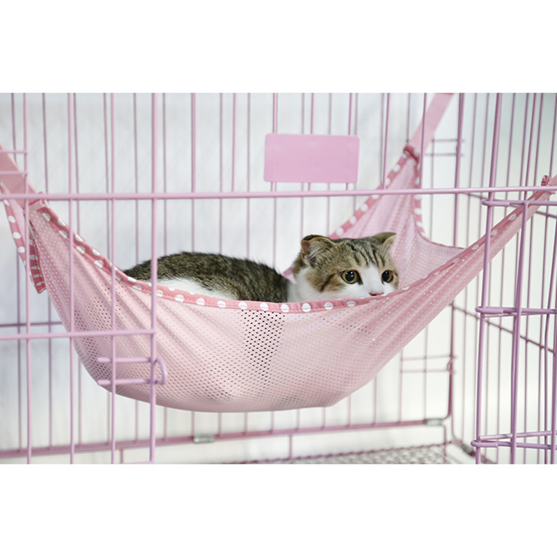 2 Size Breathable Mesh Pet Puppy Dog Cat Hanging Bed Multi-functional Summer Kitten Cat Hammock Cage Mat For Small Dogs Cats