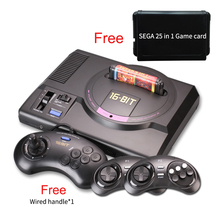 Wireless HDMI AV version for sega 16 bit tv video game console  for sega megadrive game consolewith free 25 sega game cartridge