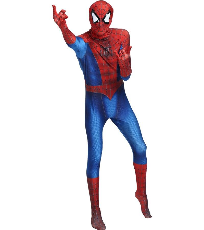 spiderman homecoming Red Black Spiderman Costume Spider Man Suit Spider-man Costumes Adults Children Kids Spider-Man Cosplay
