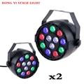 Lumière de scène 12x3W LED plat Par RGBW DMX512 Disco lampe KTV Bar rétro éclairage Dmx 2 pcs/lot|Éclairage de scène à effet|Lampes et éclairages -