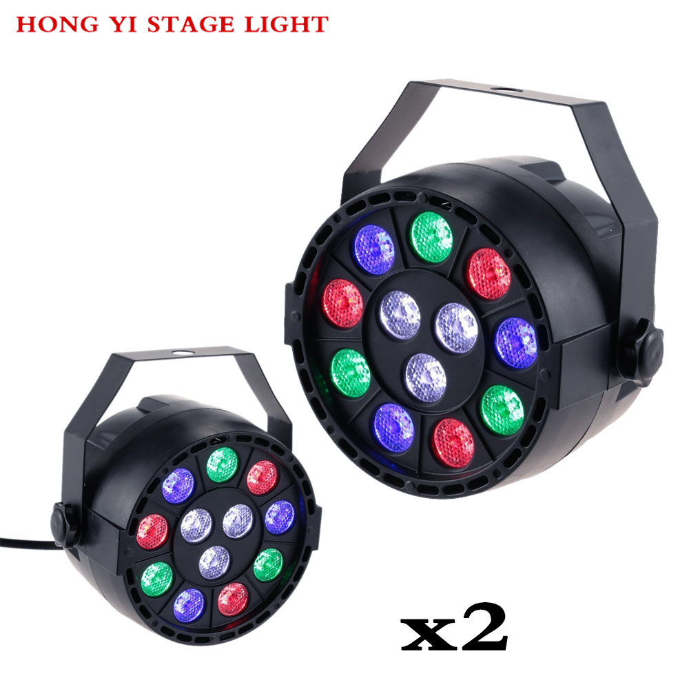 Stage Light 12x3W Flat LED Par RGBW DMX512 Disco Lamp KTV Bar Backlight Dmx 2pcs/lot