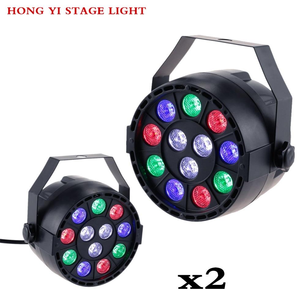 Stage Light 12x3W Flat LED Par RGBW DMX512 Disco Lamp KTV Bar Backlight Dmx 2pcs/lot