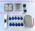 Impermeable Lector RFID de Control de Acceso Kit Lleno + Huelga Eléctrica Puerta Lock + Power Supply Estrenar