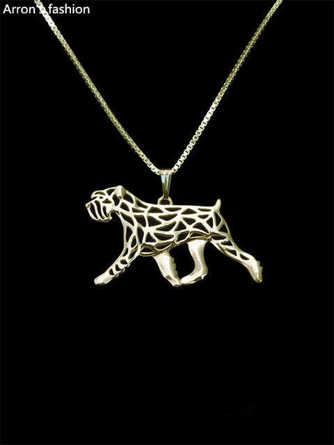 Trendy Standard Schnauzer natural ears jewelry pendant necklace