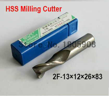 Free delivery 2 slot 5PCS M12.0 high speed steel straight shank vertical milling cutter milling cutter of end milling cutter