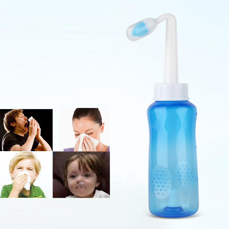 2019 Nose Wash System Sinus Allergies Relief Nasal Pressure Rinse Neti Pot for Children Kids Adults Nasal Aspirator 300ml in Nasal Aspirator from Mother Kids