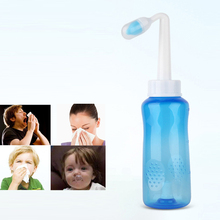 2019 Nose Wash System Sinus & Allergies Relief Nasal Pressure Rinse Neti Pot for Children Kids Adults Aspirator 300ml