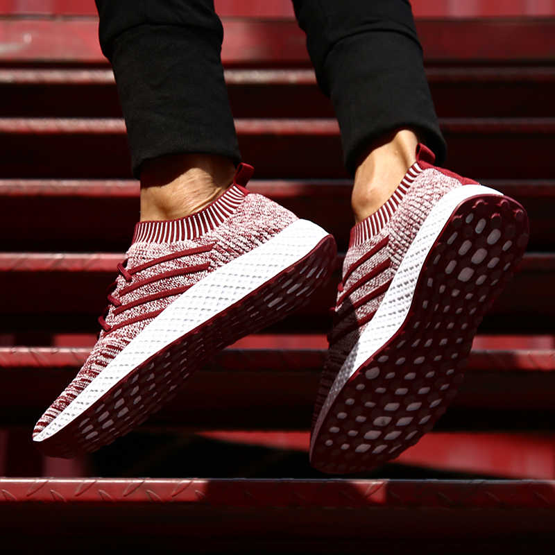 PUIMENTIUA Shoes Men Sneakers Breathable Shoes Krasovki Mocassin Basket Homme Comfortable Light Trainer Chaussures Pour Hommes
