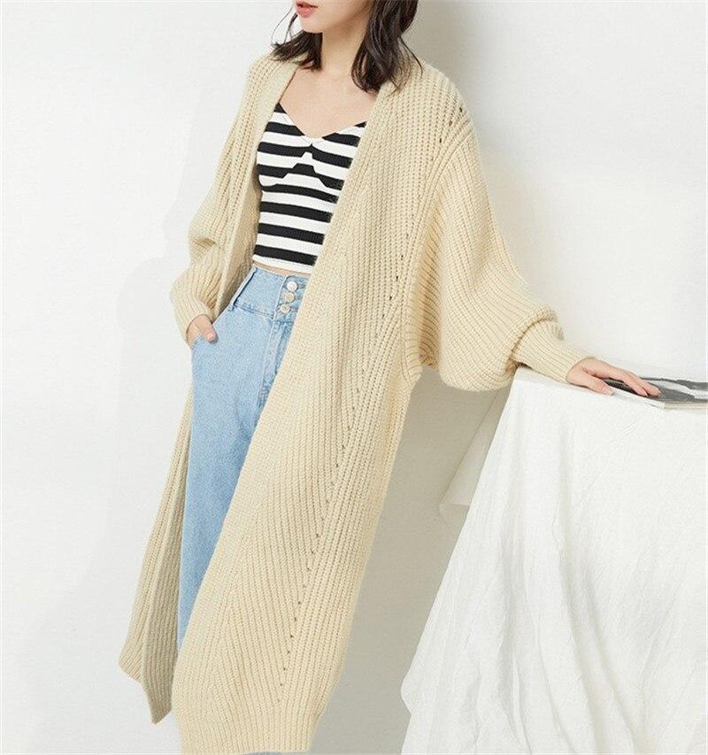 OCEANLOVE sólido grueso punto Cardigan cuello en V de manga larga caliente Casual ropa de invierno nuevo Chic coreano moda mujer suéter 10411-in Caquetas de punto from Ropa de mujer    3