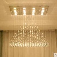 אורות סלון נברשת בדולח מלבני בית אווירה פשוט מחקר חדר אוכל חדר שינה המודרנית הוביל קריסטל מנורות led