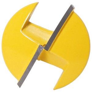 """Image 4 - 1 шт. 6 мм хвостовик маленькая чаша фрезерный бит 1 1/2 """"Радиус 1 3/4"""" широкий дверной нож деревообрабатывающий резак RCT"""