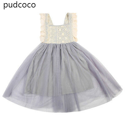 Lace Floral Kids Baby Girl Ruffles Backless Princess Ball Gown Mini Dress Summer Bowknot Party Mesh Tutu Dress Sundress Clothes lace mesh little teenage girls party dress layered spring summer 2017 long girl princess gown dress white pink sundress clothes