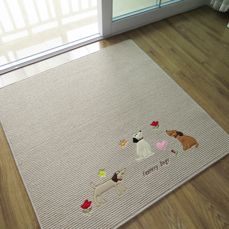 Free Shipping100100CMAnti Skid Rug Winter Washable Cute Dogs Square Carpets For Living Room