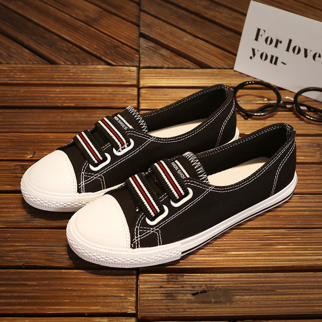 f68364a40038 High Quality Canvas Shoes Women Shoes New Summer Allmatch Korean Students  Lazy Pedal Shallow Mouth White Shoes Woman