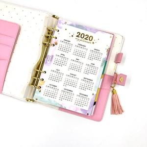 Image 2 - Fromthenon 귀여운 꽃 나선형 노트북 및 저널 한국어 a5 플래너 2020 캘린더 일일 주 월 플래너 소녀 편지지