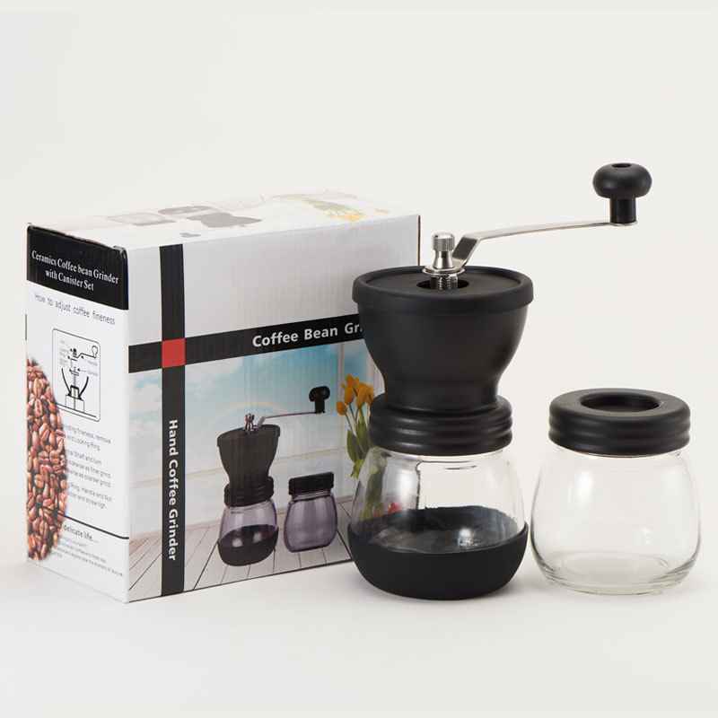 HADELI Washing hand cranked coffee grinder Manual coffee machine Coffee bean grinder household crusher sealed can in Manual Coffee Grinders from Home Garden