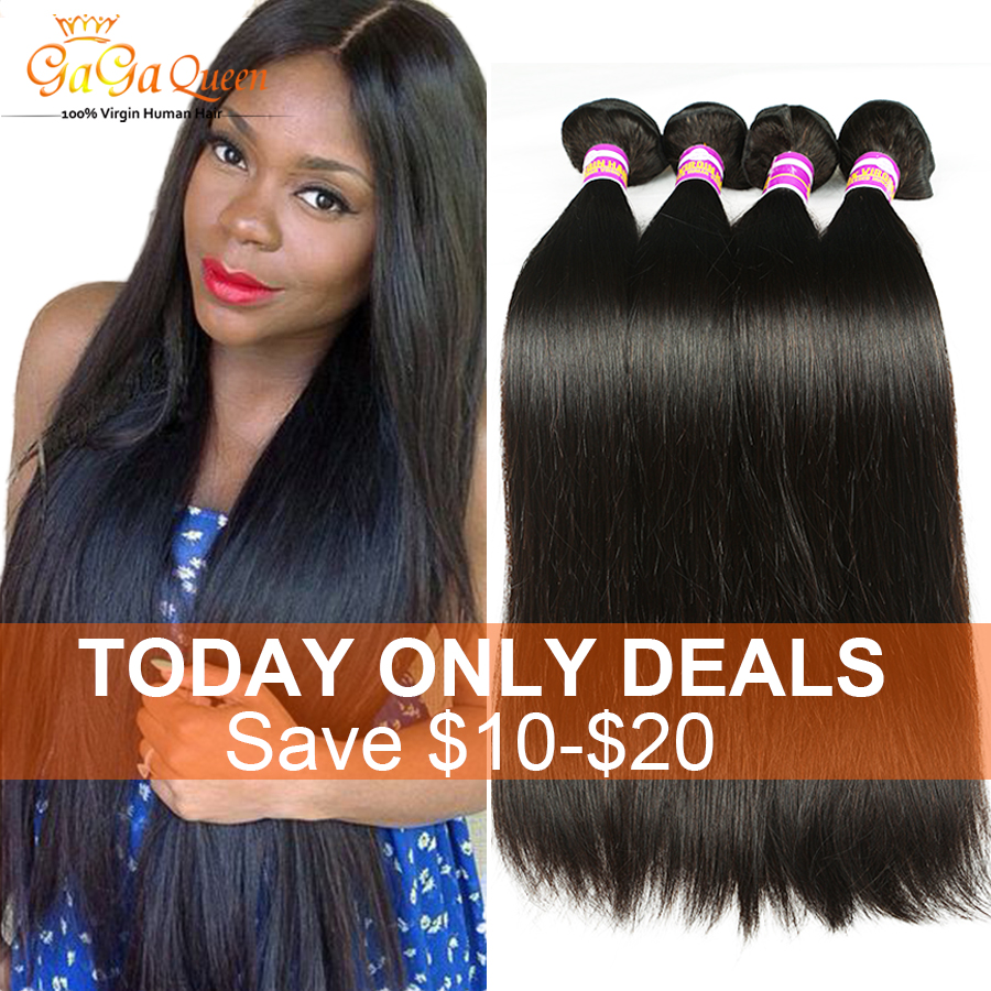 7a Virgin Brazilian Straight Hair 4 Bundles Unprocessed Brazilian Virgin Hair Straight Human Hair weave Brizilian virgin hair