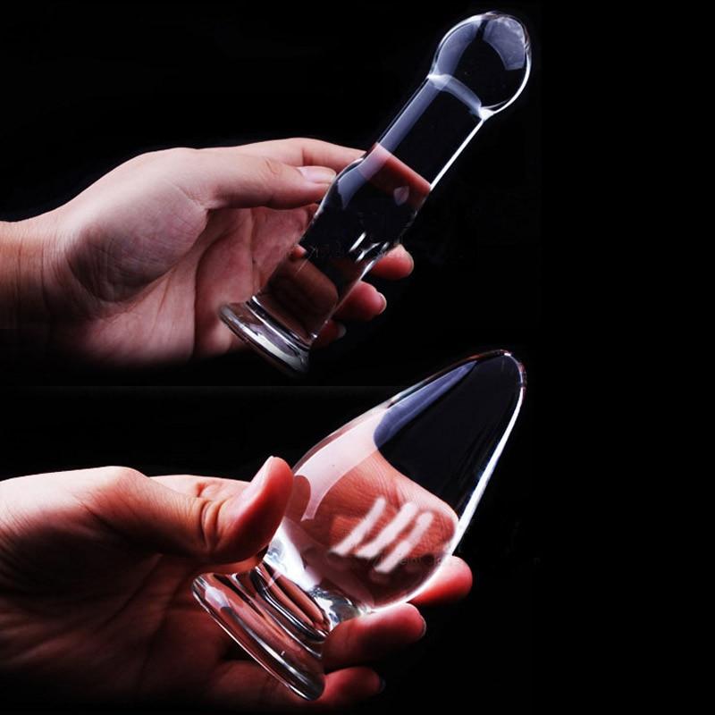 1Pc Glass Anal Butt Plugs Crystal Dildos Beads Ball Erotic -9736