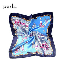 New spring summer women decorative printed silk scarf Variety headscarf 50CM wild female professional small square