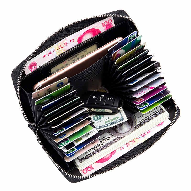 GUBINTU Neue Frauen/Männer Hand Stricken Schaffell Lange Brieftasche FRID Blockieren Weibliche Kupplung Brieftaschen Karte Halter Große Kapazität Geldbörse