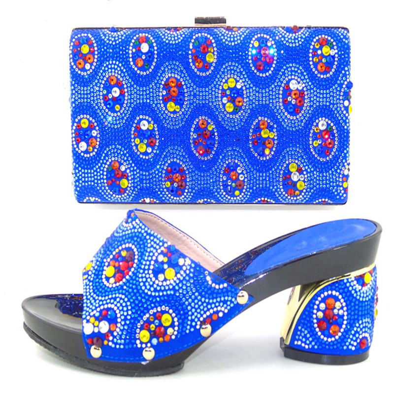 ФОТО Italian shoe and bag set ,African lady shoes matching wedding party dress For free shipping ! WDL1-10