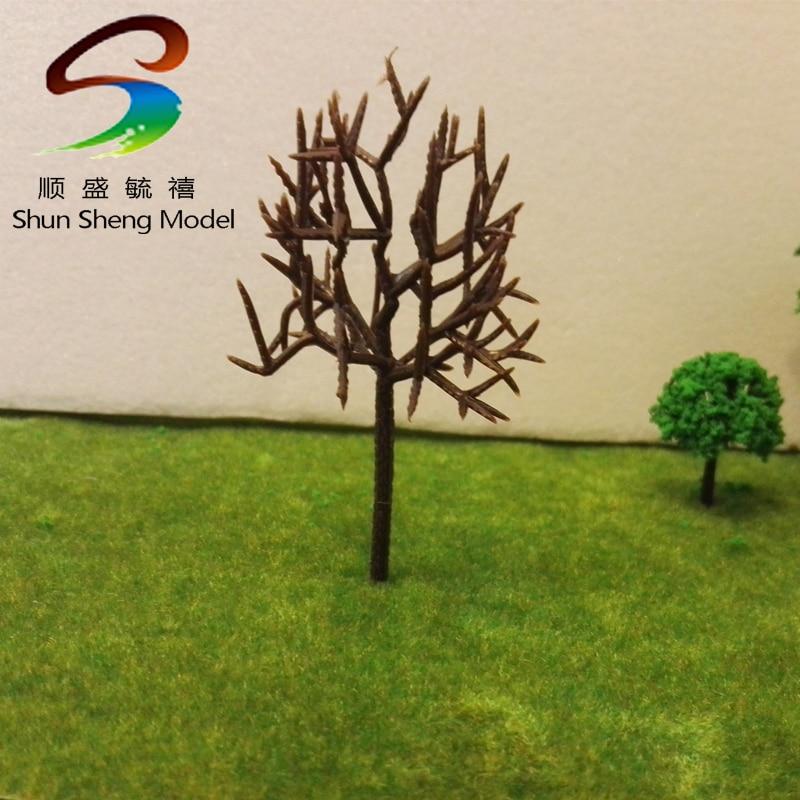 2pcs 9cm Flowering trees Railway Park HO SCALE Layout Scenery Decor   SN