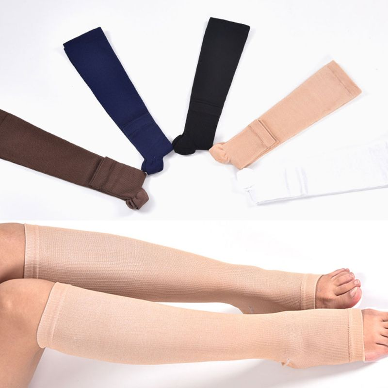 Men's Socks Just Women Men Unisex Open Toe Compression Knee Leg Relief Pain Support Socks Relief Therapeutic Anti-fatigue Compression Socks We Take Customers As Our Gods