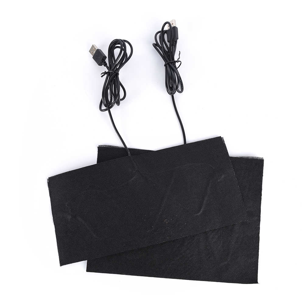 USB Dikenakan Hangat Pasta Bantalan Tahan Air Serat Karbon Bantalan Pemanas Aman Portabel Pemanas Hangat Pad untuk Rompi Jaket Kain Perlengkapan