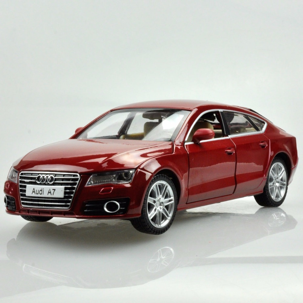 High Simulation 1:24 Scale New Audi A7 Sportback Alloy Car Model Metal Die Cast Toys For Kids Birthday Gifts Collection Toys цена