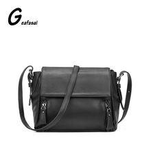Marque nouvelle grande capacité de rose gris vert noir PU femmes messenger cartables sacs à bandoulière pour lady femme dames bolsa feminina