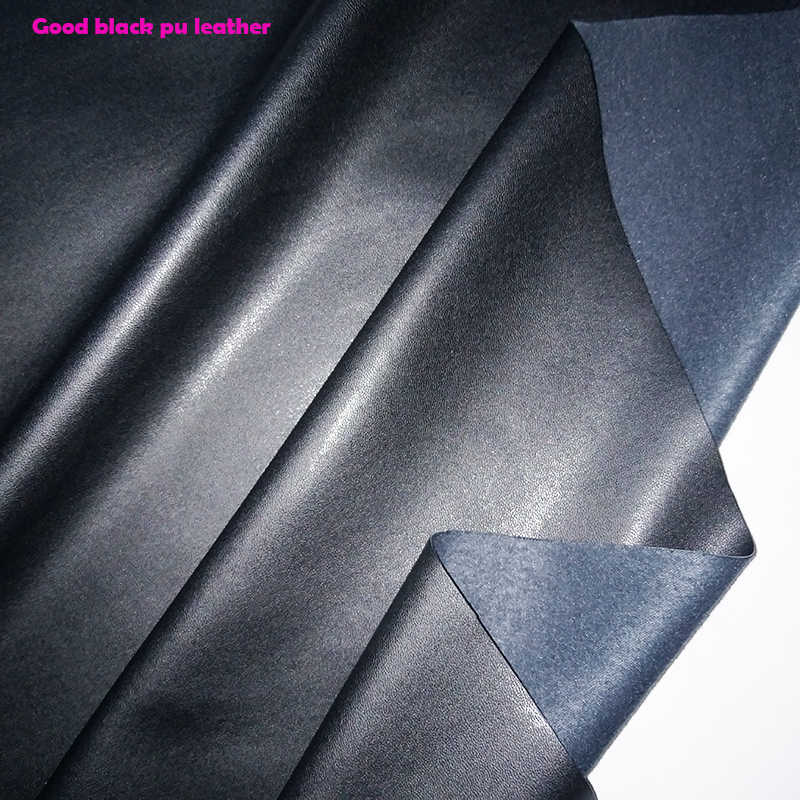 Good 69*50cm Black Garment Faux Leather Fabric PU Leather PU Synthetic Leather Fabric Sewing Material Diy Pants Clothing Jacket