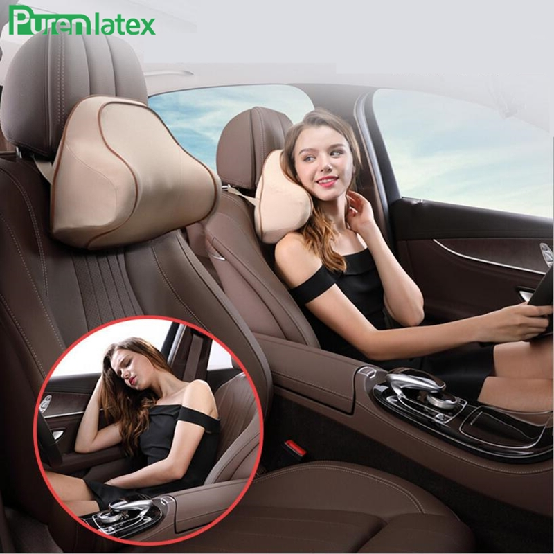 3D Surrounded Car Driving Headrest Neck Vertebra Side Support Memory Foam Orthopaedic Auto Pillow Head Cushion Vertebra Protect