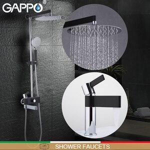 Image 1 - Gappo 샤워 수도꼭지 황동 분지의 수도꼭지 크롬과 블랙 욕실 수도꼭지 믹서 샤워 세트 벽 욕실 수도꼭지 믹서 torneira