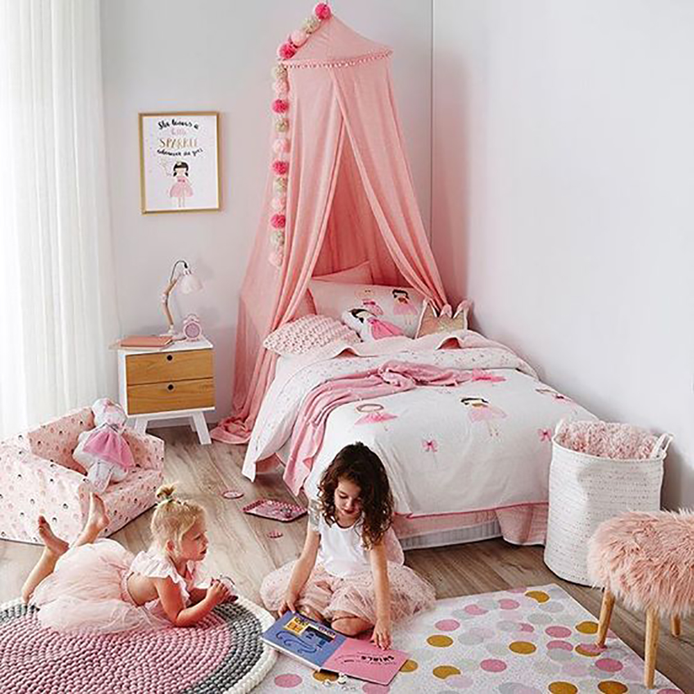 2019 Hot New Baby Canopy With Balls Childrens Indoor Tent 1.5m Bed Princess Canopy Tent Children Baby Bedroom Decoration B910 Mother & Kids Crib Netting