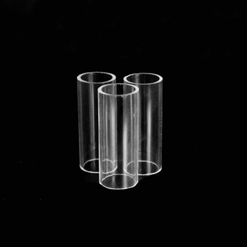 2Pcs 5mm-9mm Inside Diameter Transparent Organic Glass Pipe Acrylic Tube Hollow Duct Circle Column Vessel 300mm L 9mm-11mm OD