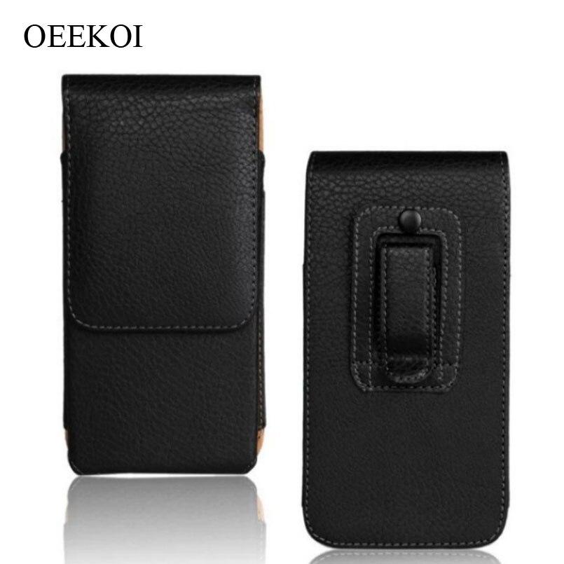 Belt Clip PU Leather Waist Holder Flip Pouch Case for