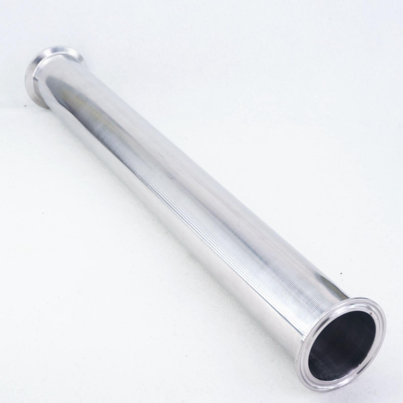 2 Inch Tri Clamp X 51mm OD Pipe Sanitary SUS304 Stainless Steel Spool Tube Length 458Mm(18 Inch)