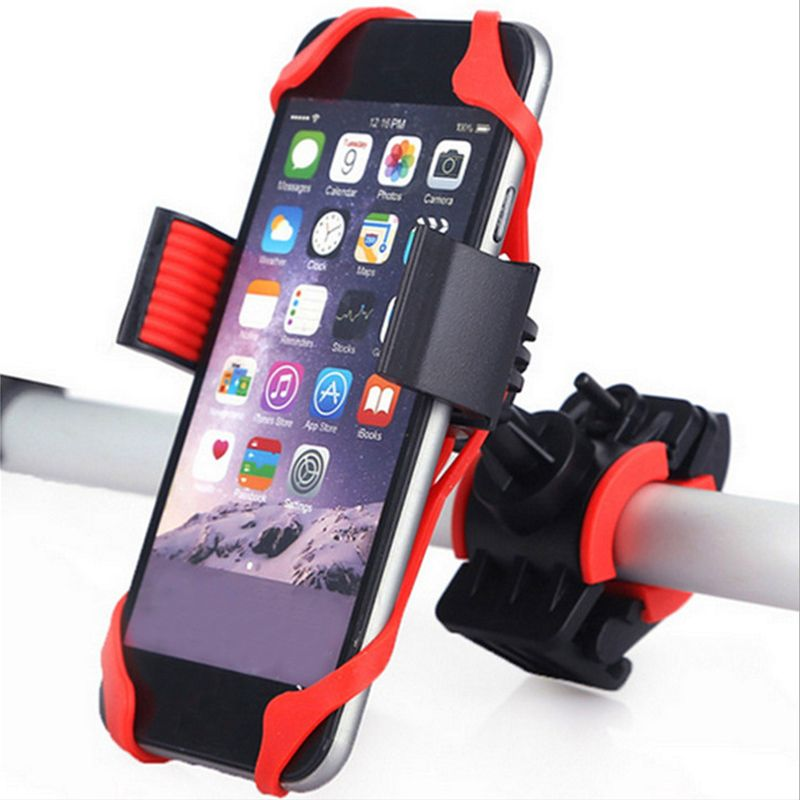 Bicycle Motorcycle Handlebar Bike Mobile Cell Phone Mount Holder Silicone For Xiaomi M365 M187 E-Scooter Smartphone GPS