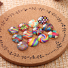 100pcs Mixed Round Dome Flatback Photo Glass Cabochon 10mm 12mm For Earrings Bracelets Making